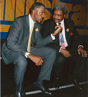 1991 <br /> Julius Irving Don King<br /> Photo By John Barrett-PHOTOlink.net/MediaPunch