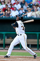 Javier Guzman of the  Jacksonville Suns during a game vs. the Tennessee Smokies July 10 2010 at Baseball Grounds of Jacksonville in Jacksonville, Florida. Photo By Scott Jontes/Four Seam Images