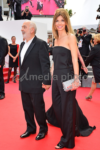 """25 May 2017 - Cannes, France - Actor Gerard Jugnot, his wife Patri Campi. """"Twin Peaks"""" Premiere - The 70th Annual Cannes Film Festival. Photo Credit: Jan Sauerwein/face to face/AdMedia"""