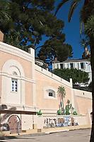 Europe/France/Provence -Alpes-Cote d'Azur/83/Var/Sanary-sur-Mer: Mur peint sur l'esplanade du port - Quai Wilson