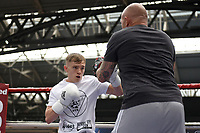 Sunny Edwards during a Public Workout at Old Spitalfields Market on 9th July 2019