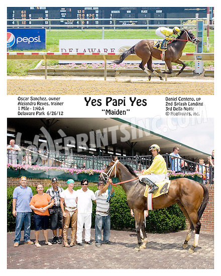 Yes Papi Yes winning at Delaware Park on 6/25/12