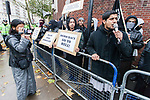 © Joel Goodman - 07973 332324 - all rights reserved . 11/11/2010 . London , UK . Siddhartha Dhar (right , with microphone) . Muslims Against Crusades hold a demonstration and burn a poppy on the anniversary of Armistice Day , at Kensington Gore , opposed by a demonstration of nationalist groups including the English Defence League ( EDL ) . Photo credit : Joel Goodman