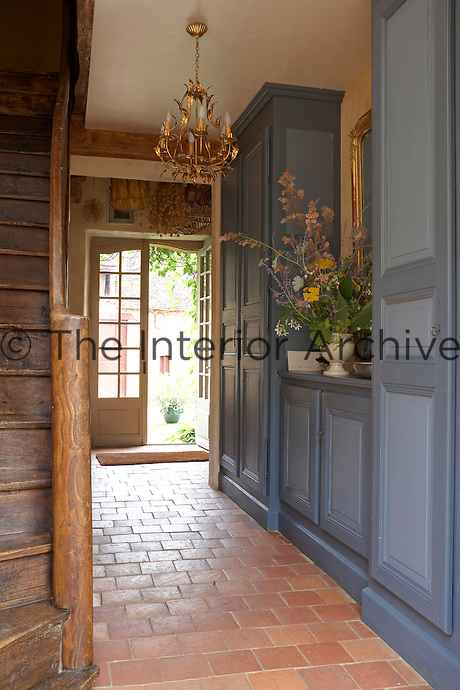 Entrance to the Fournial holiday apartment at the Chateau de la Bourlie, Dordogne