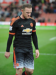 An unhappy Wayne Rooney of Manchester United walks off at the end of the game<br /> - Barclays Premier League - Stoke City vs Manchester United - Britannia Stadium - Stoke on Trent - England - 26th December 2015 - Pic Robin Parker/Sportimage