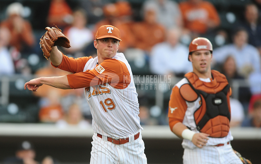 Mar. 23, 2010; Austin, TX, USA; Texas Longhorns pitcher Sam Stafford against the Rice Owls at UFCU Disch-Falk Field. Mandatory Credit: Mark J. Rebilas-