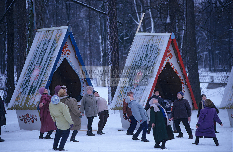 Europe-Asie/Russie/Env Saint-Petersbourg/Tsarkoie Selo: Parc de Catherine - Séance de Gymnastique