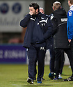 Dundee manager Paul Hartley at the end of the game.