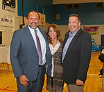 Waterbury, CT 102117MK15 (from left) Christopher and Lisa Szpryngel with Michael Dunn gathered at the Steak & Burger Dinner - Come Back to the Club celebration at the Boys & Girls Club of Greater Waterbury on Thursday evening.   Michael Kabelka / Republican-American