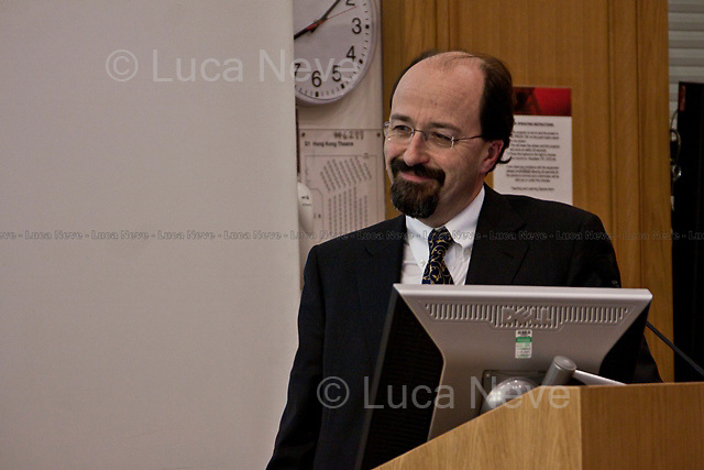 Bill Emmott (English journalist, former editor of The Economist).<br /> <br /> London, 07-08-09/02/2011. LSE (London School of Economics) Italian Society organised a series of events in London to celebrate the 150th Anniversary of the Italian Unification. Speakers included, amongst others, Bill Emmott (English journalist, former editor of The Economist), Gianluca Vialli (Italian football manager and former player), Fabio Caressa (Italian journalist and football commentator), Giacomo Vaciago (Professor of economic policy at the Catholic University of Milan) and Andrea Prat (Professor of Economics at LSE).