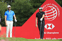 Kevin Tway (USA) and Lorenzo-Vera (FRA) on the 2nd tee during the final round of the WGC HSBC Champions, Sheshan Golf Club, Shanghai, China. 03/11/2019.<br /> Picture Fran Caffrey / Golffile.ie<br /> <br /> All photo usage must carry mandatory copyright credit (© Golffile | Fran Caffrey)