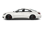 Car Driver side profile view of a 2017 Mercedes Benz CLS AMG-63-S 4 Door Sedan Side View