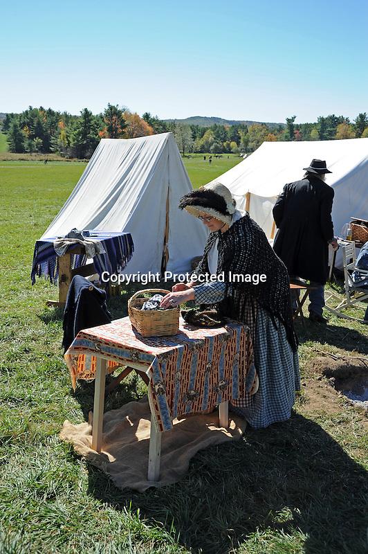 Civil War Reenactment Unity Village Camp Civilians