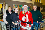 L-R Claire Counihan, Ashley Maguire, Michael O'Brien and Mike McKenna at the Firies Christmas fair last Sunday afternoon.