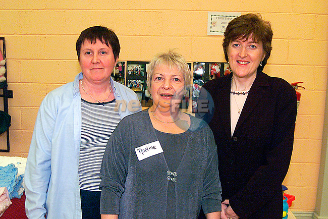 Anne McEnteggart,Noeline Bell and Anne Coen Drogheda Concentrates at the Lifestyle Day in The Holy Family Boxing Club...Pic Tony Campbell/Newsfile