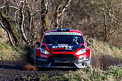 10th February 2019, Galway, Ireland; Galway International Rally; Jon Armstrong and Noel O'Sullivan (Ford Fiesta R5) have powered their Dirt Rally sponsored mount to 5th place overall after 3 stages