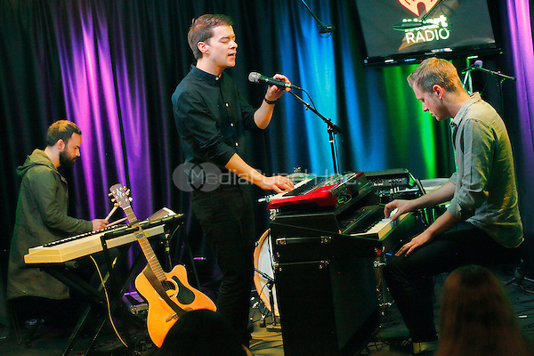 BALA CYNWYD, PA - MAY 5 :  A Silent Film visit Radio 104.5 performance studio in Bala Cynwyd, Pa on May 5, 2015  photo credit Star Shooter / MediaPunch
