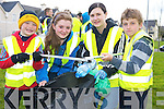 Pictured at the clean up the Balydribbeen Area, in Killarney on Thursday were Padraic Looney, Meressa Musgrave, Noirin Moran and Shane Davies.