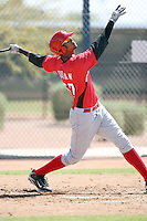 Juan Duran, Cincinnati Reds minor league spring training..Photo by:  Bill Mitchell/Four Seam Images.