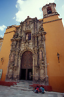 Templo San Diego church in the Spanish colonial city of Guanajuato, Mexico. Guanajuato is a UNESCO World Heritage site.