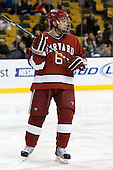 Ryan Grimshaw (Harvard - 6) - The Boston College Eagles defeated the Harvard University Crimson 6-0 on Monday, February 1, 2010, in the first round of the 2010 Beanpot at the TD Garden in Boston, Massachusetts.