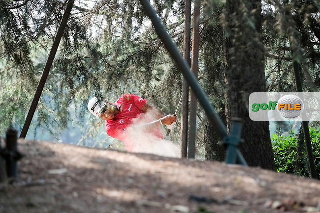 Hideki Matsuyama (JPN) on the 10th during round 2 of the 2017 WGC HSBC Champions, Sheshan International Golf Club, Shanghai, China PR. 27/10/2017<br /> Picture: Golffile   Fran Caffrey<br /> <br /> <br /> All photo usage must carry mandatory copyright credit (&copy; Golffile   Fran Caffrey)