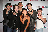 "WEST HOLLYWOOD, CA July 11- Cory Krueckeberg, Tom Gustafson, Cheyenne Jackson, Jenna Ushkowitz, Nolan Gerard Funk, Al Calderon,  At 2017 Outfest Los Angeles LGBT Film Festival Screening of ""Hello Again"" at The DGA Theater, California on July 11, 2017. Credit: Faye Sadou/MediaPunch"