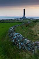 Europe/France/Normandie/Basse-Normandie/50/Manche/Presqu'île de la Hague/Goury: Phare du Cap de la Hagueet murets de pierre séche