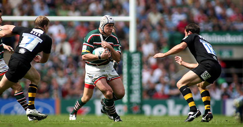 Photo: Paul Thomas..London Wasps v Leicester Tigers. Heineken Cup Final. 20/05/2007...Marcos Ayerza of Leicester attacks.