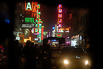 Hotels in the Paharganj district of New Delhi, India.