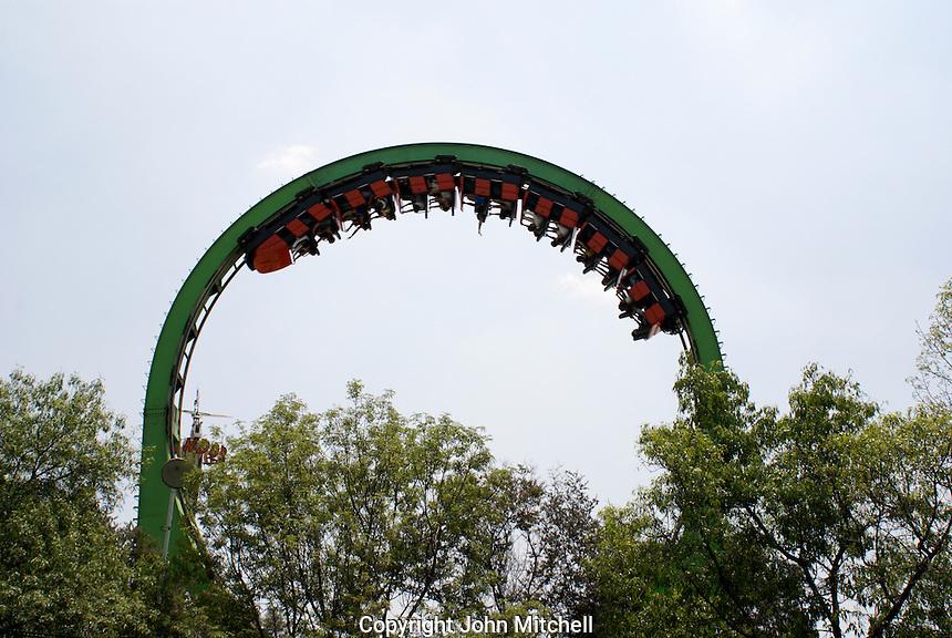 Ride in La Feria amusement park in the Second Section of Chapultepec Park, Mexico City