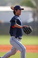 Cleveland Indians minor leaguer Reid Santos during Spring Training at the Chain of Lakes Complex on March 16, 2007 in Winter Haven, Florida.  (Mike Janes/Four Seam Images)