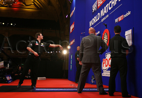 23.07.2011 World Match Play Darts from the Winter Gardens in Blackpool. James Wade in action during the semi finals.