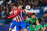 "Atletico de Madrid's Tiago Mendes, Saul Iniguez during the match of ""Copa del Rey"" between Atletico de Madrid and Gijuelo CF at Vicente Calderon Stadium in Madrid, Spain. december 20, 2016. (ALTERPHOTOS/Rodrigo Jimenez)"
