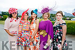 Nadine Smith Mary Woulfe, Athea, Eileen Kennedy, Caragh Lake, Aileen O'Connor, Abbeyfeale and Siobhan Cremin, Beaufort, at  Ladies Day at Killarney Races on Thursday