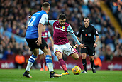 4th November 2017, Villa Park, Birmingham, England; EFL Championship football, Aston Villa versus Sheffield Wednesday; Robert Snodgrass of Aston Villa takes a strike at goal