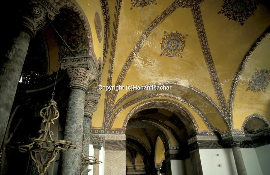 Turkey, Istanbul. Ayasofya Byzantine Basilica, architectural details