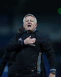 Chris Wilder manager of Sheffield Utd during the English League One match at the Proact Stadium, Chesterfield. Picture date: November 13th, 2016. Pic Simon Bellis/Sportimage