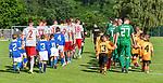 12.07.2017, Sportplatz, Mals, ITA, FSP, FC Augsburg vs 1. FC Kaiserslautern, im Bild beide Mannschaft betreten mit Kids den Platz<br /> <br /> Foto &copy; nordphoto / Hafner