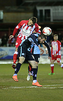 Michael Harriman of Wycombe Wanderers <br /> during the Sky Bet League 2 match between Accrington Stanley and Wycombe Wanderers at the Wham Stadium, Accrington, England on 16 March 2016. Photo by Tony (KIPAX) Greenwood / PRiME Media Images.