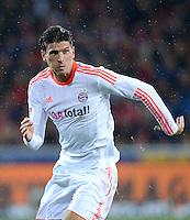 FUSSBALL   1. BUNDESLIGA   SAISON 2012/2013  15. SPIELTAG     SC Freiburg - FC Bayern Muenchen      28.11.2012 Mario Gomez (FC Bayern Muenchen)