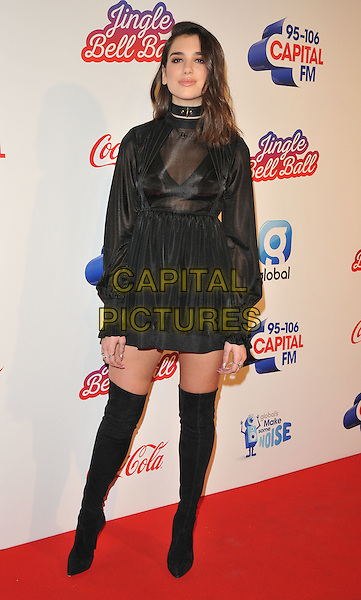Dua Lipa at the Capital FM Jingle Bell Ball, The London O2 Arena, Peninsula Square, London, England, UK, on Saturday 03 December 2016. <br /> CAP/CAN<br /> &copy;CAN/Capital Pictures