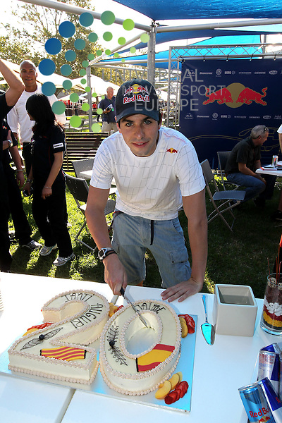F1 GP of Australia, Melbourne 26. - 28. March 2010.Jaime Alguersuari (ESP), Scuderia Toro Rosso - 20 Years birthday celebration..Picture: Hasan Bratic/Universal News And Sport (Europe) 26 March 2010.