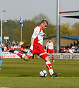 Michael Bostwick of Stevenage Borough shoots for goal during the Blue Square Premier match between Stevenage Borough and York City at the Lamex Stadium, Broadhall Way, Stevenage on Saturday 24th April, 2010..© Kevin Coleman 2010 ..