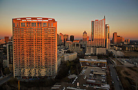 Downtown city living in Austin, Texas offers many luxury high-rise condos and city apartments with incredible downtown skyline views.