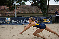 Berkeley, CA - March 18, 2017: Cal Bears Beach Volleyball vs Sacramento State at Clark Kerr Sand Courts.  Final: Cal 4, Sacramento State 1.
