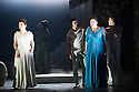 London, UK. 30.04.2014. English National Opera gives the world premiere of British composer Julian Anderson's first opera, THEBANS. Picture shows: Julia Sporsen (Antigone), Matt Casey (Eteocles), Susan Bickley (Jocasta) and Jonathan McGovern (Polynices). Photograph © Jane Hobson.