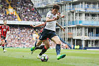 Son Heung-Min of Tottenham Hotspur scores his side's second goal during the Premier League match between Tottenham Hotspur and Bournemouth at White Hart Lane, London, England on 15 April 2017. Photo by Mark  Hawkins / PRiME Media Images.