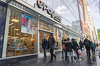 A Payless ShoeSource store in New York on Friday, February 10, 2017. Payless is reported to be in talks with lenders about a restructuring plan which may include closing up to 1000 stores or a possible bankruptcy. (© Richard B. Levine)
