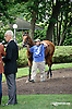 Dr. Toothman before The Nick Shuk Memorial Stakes at Delaware Park racetrack on 7/10/14